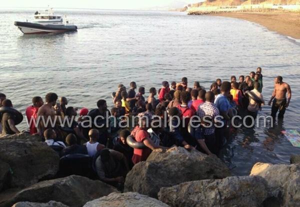 توقيف 49 مرشحا للهجرة غير الشرعية على مستوى ساحل مدينة الفنيدق