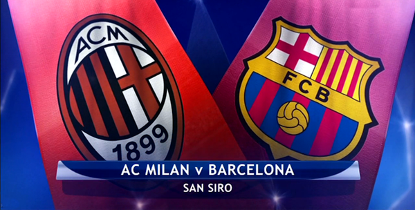 ميلان يستقبل برشلونة في ملحمة الذهاب الدوري أبطال أوروبا