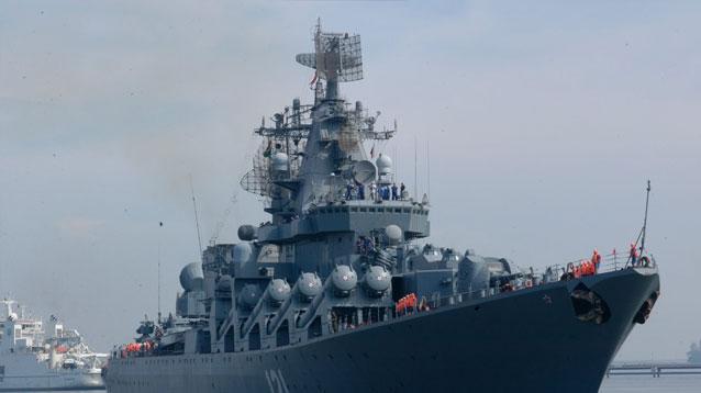 مرابطة أكبر سفينة نووية روسية قبالة سواحل الحسيمة