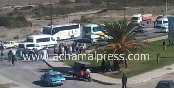مصرع شخص مجهول الهوية في حادثة سير بضواحي مدينة طنجة