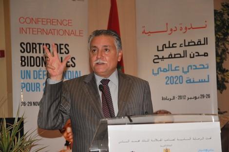 بنعدالله يراهن على إعلان طنجة والقصر الكبير مدينتين بدون صفيح سنة 2014