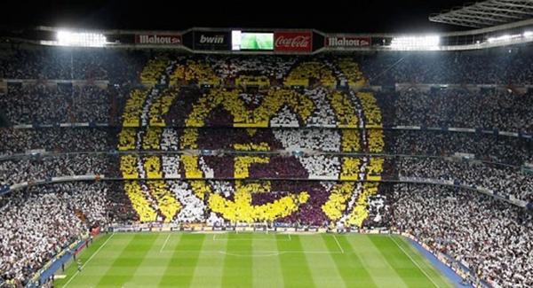 جماهير النادي الملكي تدعم رونالدو بلوحة مكونة من 45 ألف صورة في برنابيو