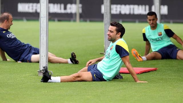 برشلونة قد يفتقد جهود قائده المصاب تشافي أمام غرناطة