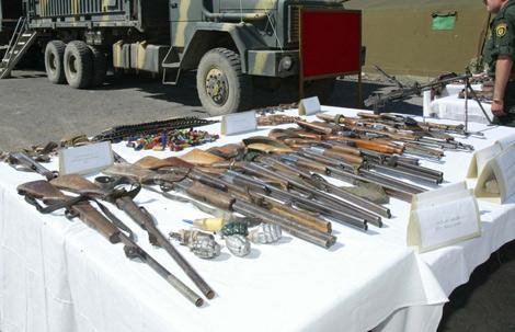 حجز مائة قطعة سلاح مهربة واعتقال أربعة أشخاص شمال فرنسا