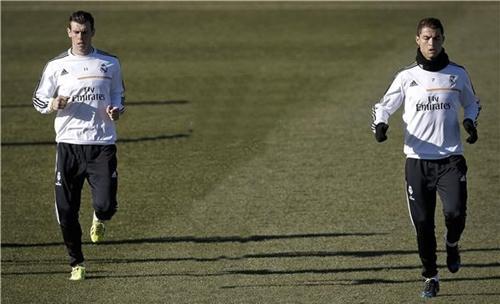 رونالدو وبيل يعودان لتدريبات الريال قبل مواجهة كوبنهاجن