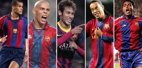 نيمار يسير على خطى رونالدينيو وريفالدو وروماريو ورونالدو في موسمه الأول مع برشلونة