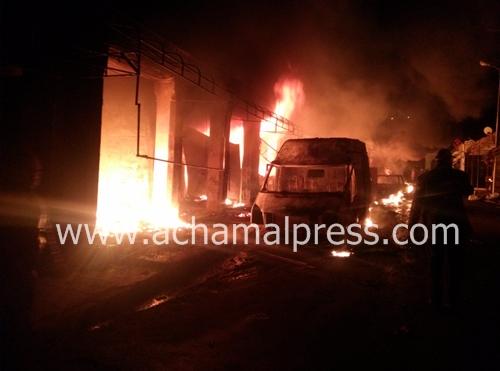 حريق بسوق تجاري بوزان يخلف خسائر مادية تقدر بملياري سنتيم