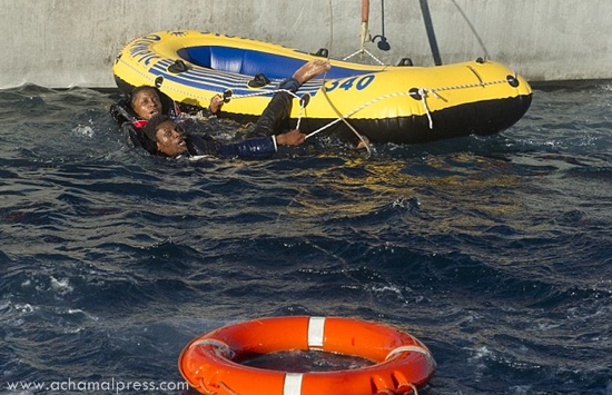 مصالح الإنقاذ البحري تغيث 29 مهاجرا غير شرعي بالقرب من مضيق جبل طارق