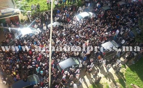 """مسيرة حاشدة لتلاميذ ثانويات طنجة للمطالبة بإسقاط """"مسار"""""""