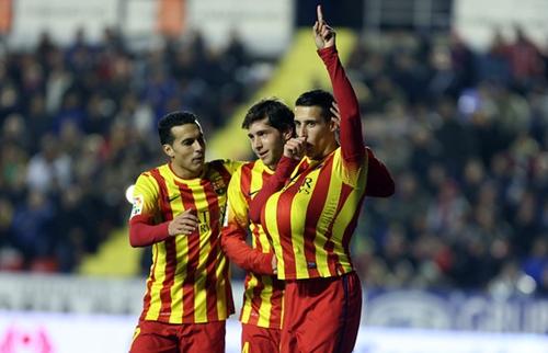 تيلو يضع برشلونة على مشارف نصف النهائي كأس اسبانيا