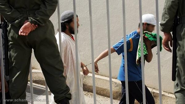 إيداع ثلاثة عناصر ينتمون لخلية إرهابية تنشط بالمدن الشمالية السجن المدني بسلا