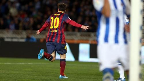 ميسي سجل 31% من أهداف برشلونة في 2014