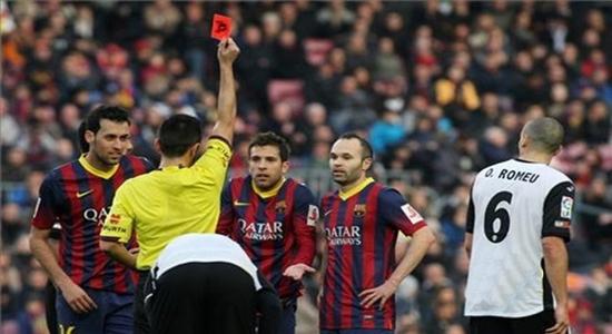 لجنة الإنضباط ترفض استئناف برشلونة وتأكد على طرد جوردي ألبا