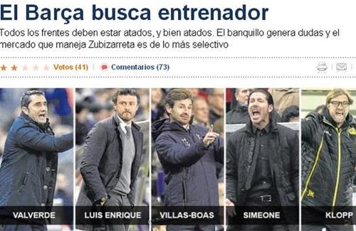 7 مدربين مرشحين لخلافة تاتا مارتينو في برشلونة