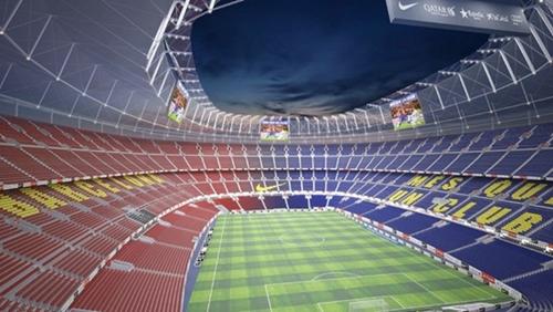 """برشلونة يكشف عن الرسوم الهندسية لملعب """"كامب نو"""" الجديد"""