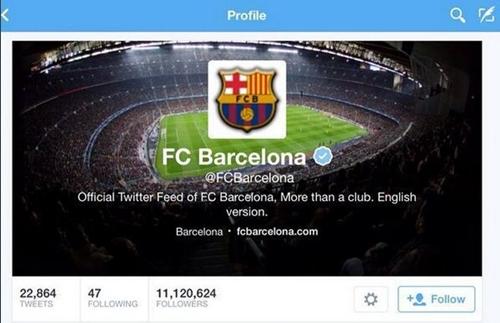 """""""هاكرز"""" سوريون يخترقون التويتر الرسمي لبرشلونة"""