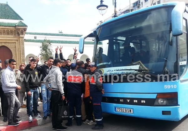 """طلبة طنجة يعودون لسلسلة إحتجاجاتهم ضد شركة النقل الإسبانية """"ألزا"""""""