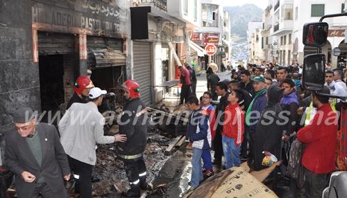 حريق بمحل تجاري وسط تطوان يخلف هلعا كبيرا لدى سكان الأحياء المجاورة