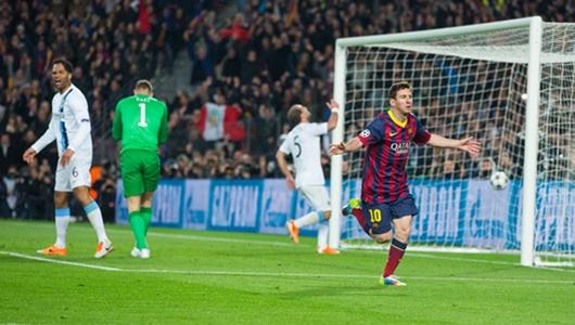 ميسي يقتل أحلام مانشستر سيتي ويقود برشلونة لدور الثمانية عشر لدوري أبطال أوروبا