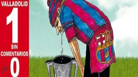 """صحيفة """"سبورت"""" الكتالونية تنشر صورة كاريكاتيرية لحالة برشلونة"""
