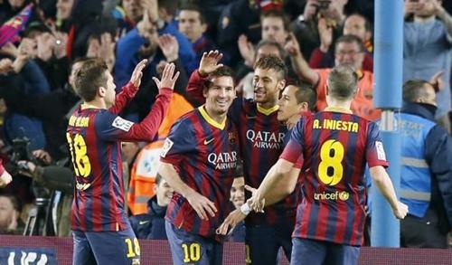 نيمار وميسي يقودان برشلونة لوصافة الليغا على حساب سيلتا فيغو