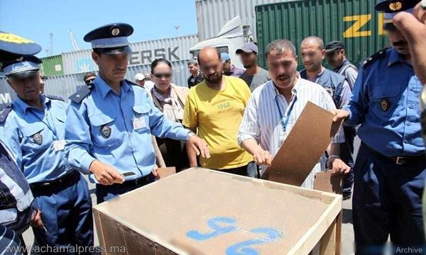 عناصر الجمارك تصادر أزيد من 1100 هاتف محمول جديد بميناء طنجة المتوسطي