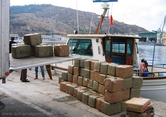 إعتراض سفينة مصرية محملة بـ 13 طنا من الحشيش في المياه الإقليمية للأندلس