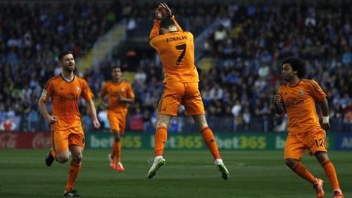 ريال مدريد يحقق فوزا قيصريا على مالقا بهدف رونالدو