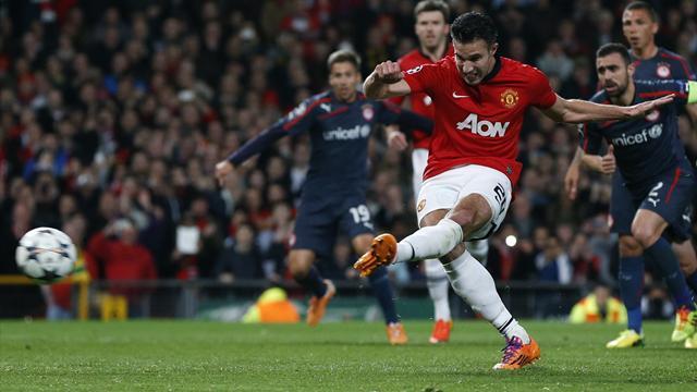 فان بيرسي يعود بيونايتد من بعيد ويؤهله مع دورتموند الى ربع النهائي دوري أبطال أوروبا