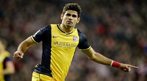 اصابة دييغو كوستا تهدد بغيابه عن مباراة أمام برشلونة