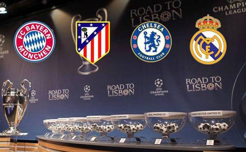 نهائي قبل الأوان في دوري أبطال أوروبا بين مدريد والبايرن.. وأتلتيكو يواجه تشيلسي