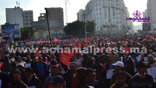 مسيرة حاشدة بالدار البيضاء لمختلف القطاعات المهنية والخدماتية والإنتاجية بالمغرب