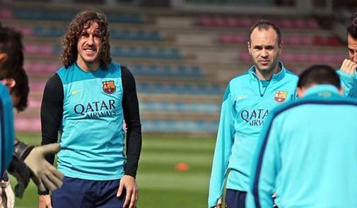 بويول يعود لقائمة برشلونة أمام بيتيس