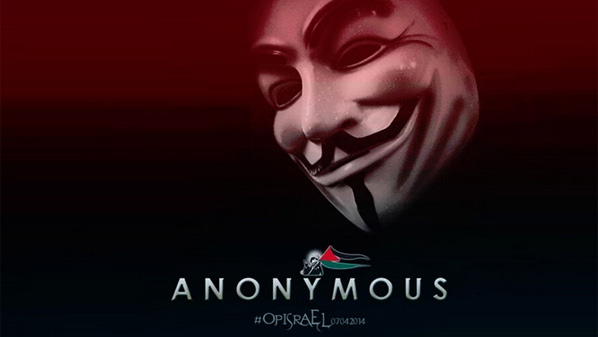 """قراصنة """"أنونيموس"""" يبدأون هجوم إلكتروني على إسرائيل دعمًا لفلسطين"""