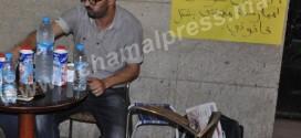 عبد الحميد العزوزي في اعتصام مفتوح بمدخل إذاعة تطوان احتجاجا على طرده التعسفي (حوار مصور)