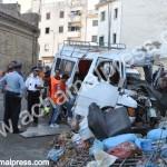 مصرع 4 نساء وجرح 16 شخص في حادثة سير بتطوان (صور)