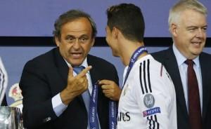 """ريال مدريد يهاجم """"ميشيل بلاتيني"""" دفاعا عن """"كريستيانو رونالدو"""""""