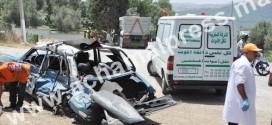 حرب الطرق تحصد 15 قتيلا و1525 جريحا في الأسبوع الماضي