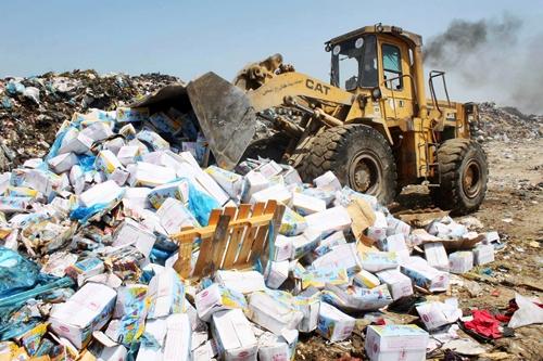 مكتب السلامة الصحية يحجز 29 طن من المواد الغذائية الفاسدة بجهة طنجة
