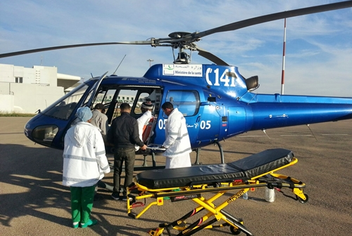 المروحية الطبية لجهة طنجة تواصل اسعاف المرضى