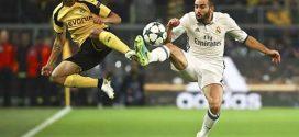 التعادل يخيم على مباراة بوروسيا دورتموند وريال مدريد في دوري الأبطال