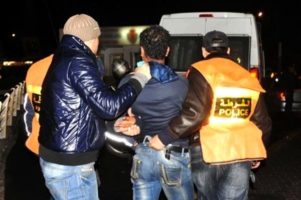 اعتقال مجرم خطير هاجم الشرطة في طنجة