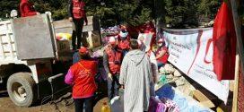 قافلة الهلال الأحمر المغربي تحط رحالها بإقليم شفشاون