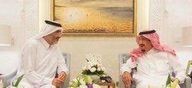 الملك السعودي سلمان يستقبل شيخا قطريا بقصره بطنجة