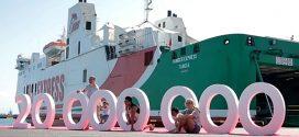 """شركة """"FRS"""" البحرية تصل إلى 20 مليون مسافر خلال 17 سنة من العمل"""
