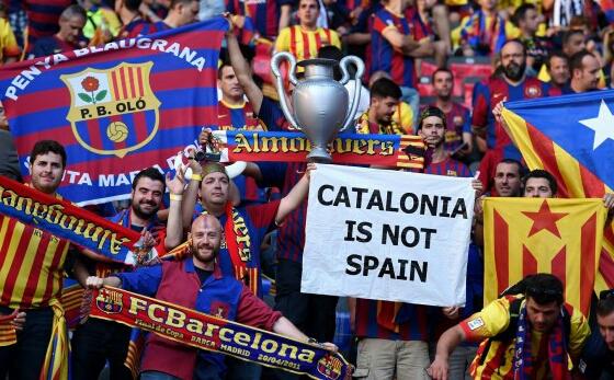 """""""انفصال كاتالونيا"""" يخيم على مستقبل """"البارصا"""" ومنتخب إسبانيا"""