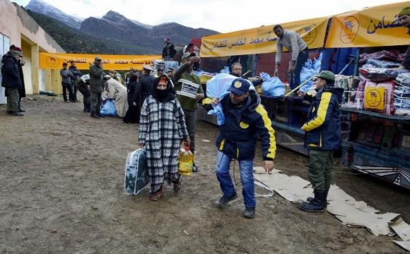 توزيع مساعدات لفائدة 1200 أسرة بإقليم شفشاون لمواجهة موجة البرد