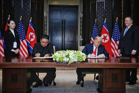 """ترامب يبشر بـ""""تاريخ جديد"""" مع كوريا الشمالية"""