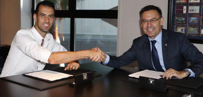 برشلونة يجدد عقد لاعبه سيرخيو بوسكيتس حتى 2023