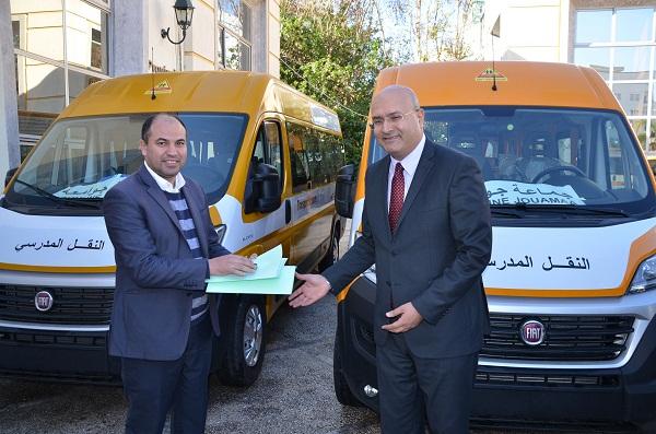 توزيع 9 حافلات للنقل المدرسي على 7 جماعات قروية بإقليم الفحص – أنجرة